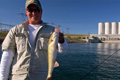 Oahe Dam tailrace means open water for multiple species year round.