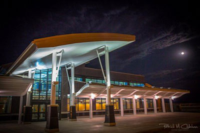 Pierre Regional Airport are welcomed by a new terminal building.
